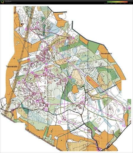Krppjahti Kokkola May 12th 2012 Orienteering Map from Markku