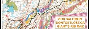 Salomon Dontgetlost.ca Giant's Rib Raid - Map #2