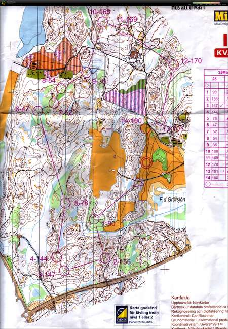 25-manna - October 10th 2015 - Orienteering Map from Ursula