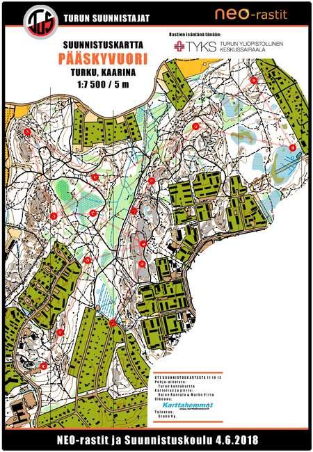 NEO-Rastit 4.6.2018 - June 4th 2018 - Orienteering Map from olfellows.fi