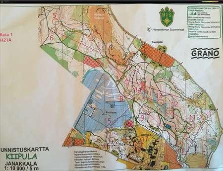 Am Yo Koejuoksu Kiipula September 17th 2018 Orienteering Map