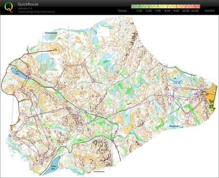 SL Ume jaktstart May 24th 2015 Orienteering Map from Filip