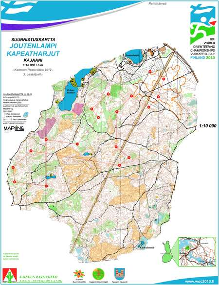 KRV 3osakilp KOW 3rd race Joutenlampi Kajaani July 5th 2012