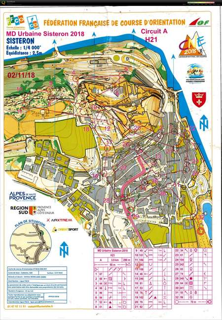 Sisteron France Map.Md Semi Urbaine A Sisteron November 2nd 2018 Orienteering Map