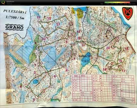 Yosuunnistusvedot April 22nd 2015 Orienteering Map From Mikko