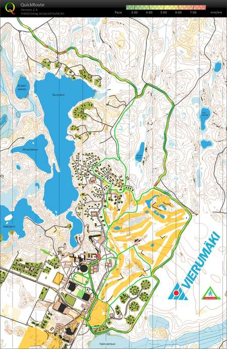 Valoilves VieruHeinola March 17th 2018 Orienteering Map from