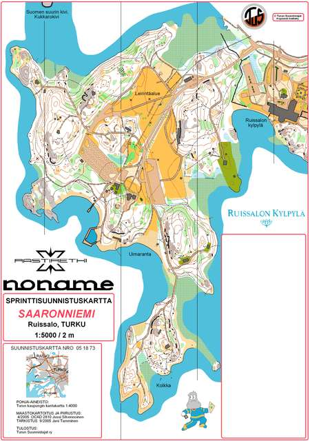 Turku Sprint Cup 2 May 11th 2006 Orienteering Map From