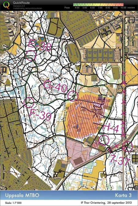 Uppsala Mtbo Karta 3 September 28th 2013 Orienteering Map From