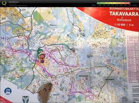 Rovaniemi 9 Takavaara August 3rd 2019 Orienteering Map From