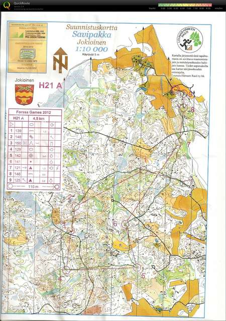 Forssa Games June 14th 2012 Orienteering Map from Vesa Taanila