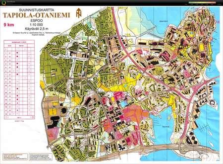 Pihkakortteli Otaniemi March 1st 2015 Orienteering Map From