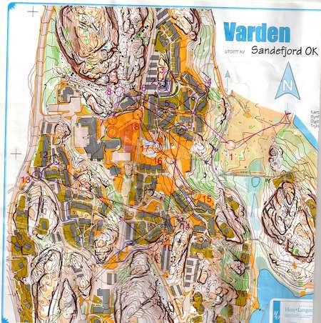 CCSprint SandefjordVarden April 16th 2011 Orienteering Map