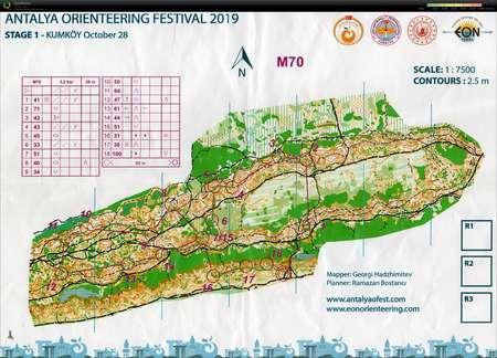 Antalya O Festival Etape 1 October 28th 2019 Orienteering Map