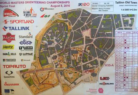 WMOC 2016 M35 AFinal August 8th 2016 Orienteering Map from