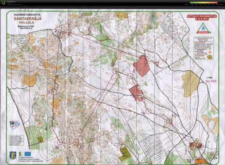 Lahtisuunnistus day 2 August 6th 2017 Orienteering Map from