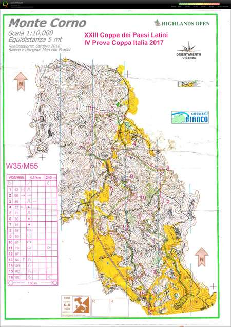 IV Prova Coppa Italia - May 21st 2017 - Orienteering Map from Paolo on