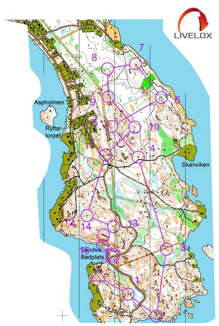 Tjustalliansens U Serie 1 May 5th 2020 Orienteering Map From Livelox