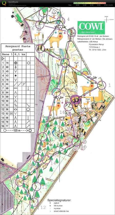 Ifk Arsafslutning Ansgaard December 5th 2017 Orienteering Map