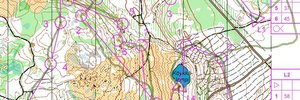 Map: Lankamaa O-intervals  - Last week before WOC2009