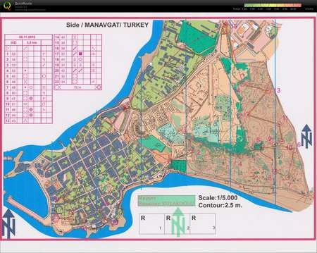 Sprint Side old town February 4th 2011 Orienteering Map from Eva