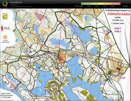 Pyorasuunnistuksen Sm Pitka Kartta 1 July 31st 2011