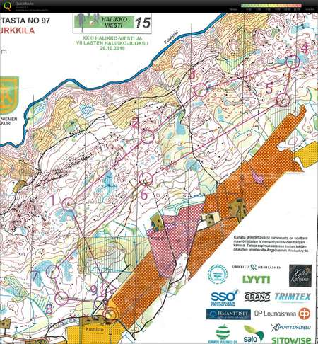 Halikko October 26th 2019 Orienteering Map From Lars Palmqvist