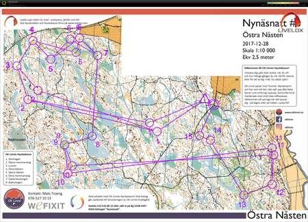 Nynsnatt bana i Nsten February 3rd 2018 Orienteering Map from