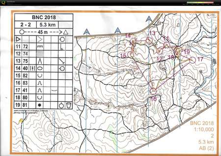 Bendigo Night Champs C2 Map 2 April 28th 2018 Orienteering Map