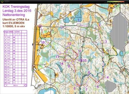 otra kart Evjesamling nattøkt   December 3rd 2016   Orienteering Map from  otra kart