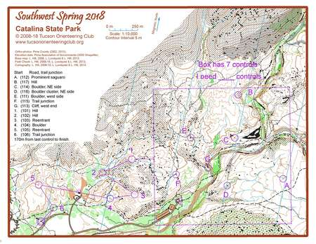 Catalina M Start - February 19th 2018 - Orienteering Map from ... on