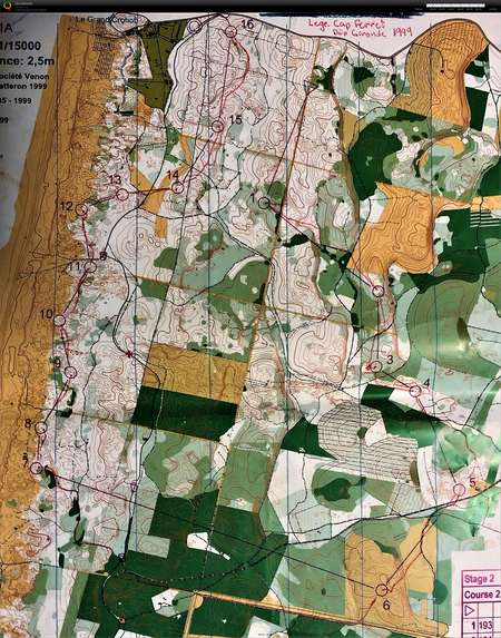 5-jours de France E2 - July 6th 1999 - Orienteering Map from
