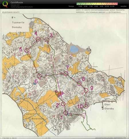 Teeksun Saunailtasuunnistus April 9th 2018 Orienteering Map