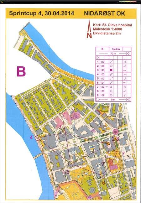 Trondheim Sprintcup Nr 4 Del 1 April 30th 2014 Orienteering