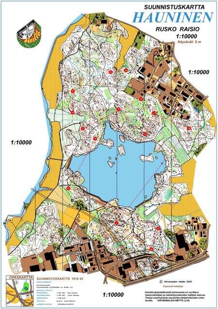 TurkuRastit 2792017 September 27th 2017 Orienteering Map from