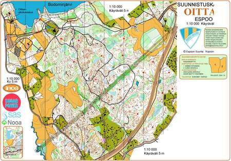Espoorastit 29 Oittaa October 17th 2010 Orienteering Map From