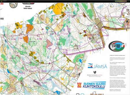 JmsJukola June 16th 2013 Orienteering Map from Magnus Grafstrm