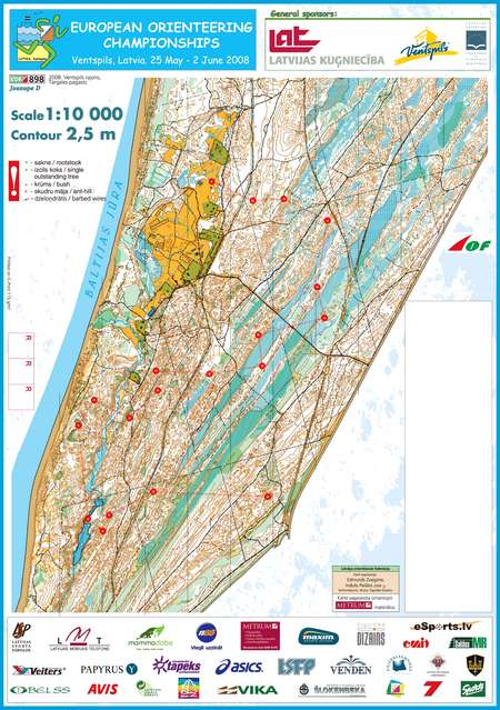 EOC Middle Qualification May 30th 2008 Orienteering Map from