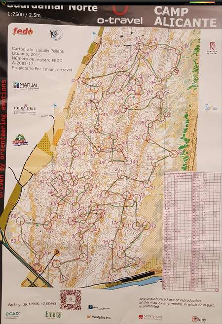 Utlandsstudier 1 February 12th 2018 Orienteering Map from Erik