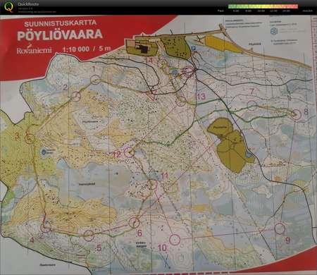 Rovaniemi 6 Poyliovaara August 1st 2019 Orienteering Map