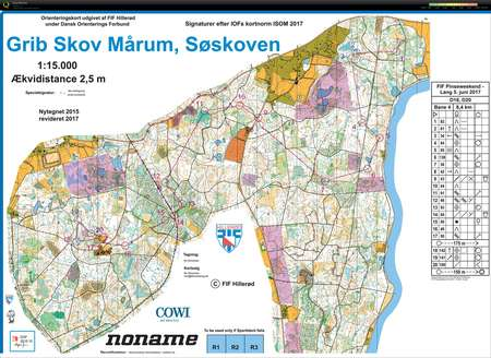 Fif Pinseweekend 2017 Long June 5th 2017 Orienteering Map