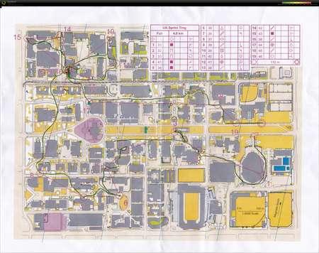 Map University Of Arizona.University Of Arizona Sprint Training July 3rd 2015 Orienteering