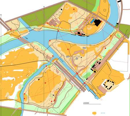 Genesee Valley Park Sprint 5 Trail Challenge August 20th 2011 Orienteering Map From Misc Us Events
