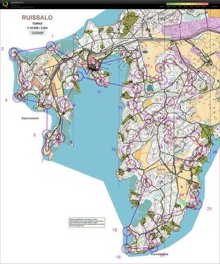 Turku Ruissalo Kochacka Po Ranu Orienteering Map From