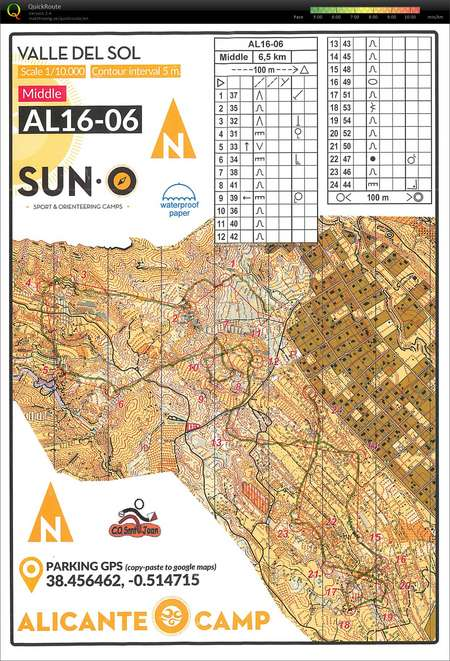 Suno Campus Map.Valle Del Sol February 14th 2016 Orienteering Map From Jonas