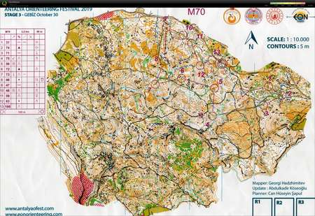 Antalya O Festival Etape 3 October 30th 2019 Orienteering Map