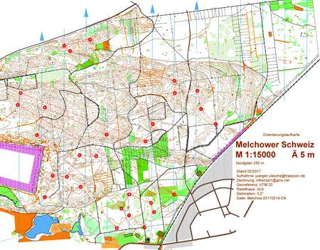 DBK Nacht Melchow March Th Orienteering Map From - Berlin map 2017