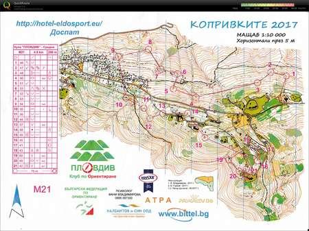Kupa Plovdiv 2017 Dag 2 October 1st 2017 Orienteering Map From