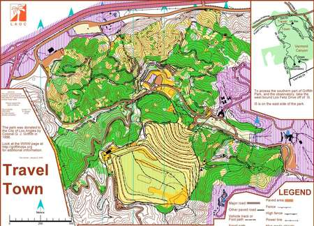 Griffith Park Los Angeles Map.Travel Town Griffith Park May 31st 2009 Orienteering Map From