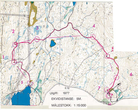 Kretslp Notodden May 28th 1978 Orienteering Map from Carl Erik
