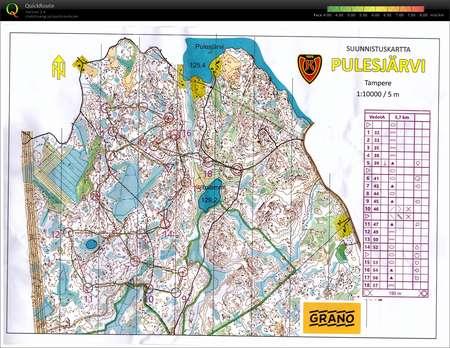 Suunnistusvedot August 18th 2018 Orienteering Map From Mikko